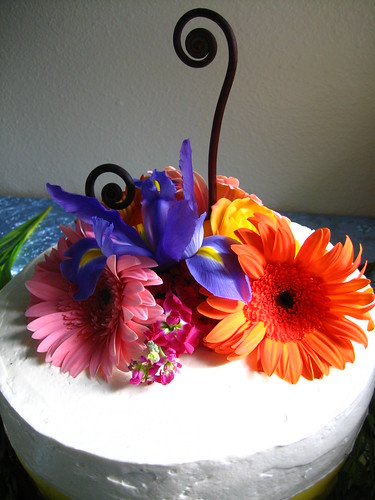 cake, flowered
