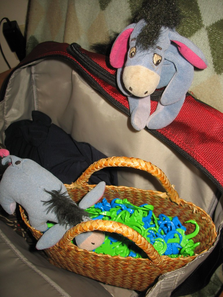 Eeyore & EJ get ready for their trip to the UK