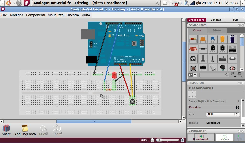 Breadboarding in Fritzing