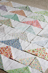 Vintage Geese (Jeni Baker) Tags: modern work vintage flying geese apartment quilt handmade sewing may progress fabric quilting stitching block quilts crafting solid 2010 in