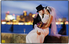 All the Right Moves (Ryan Brenizer) Tags: woman man love boston skyline groom bride nikon kiss bokeh tophat ipad 135mmf2ddc d3s bokehpanorama brenizermethod litbyipad