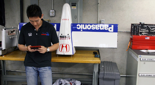 Hideki in the garage