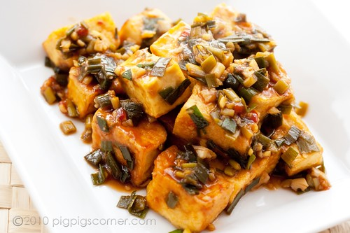 Spicy sweet and sour tofu