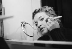 B (clockwise witness) Tags: light blackandwhite film beauty bathroom hannah makeup