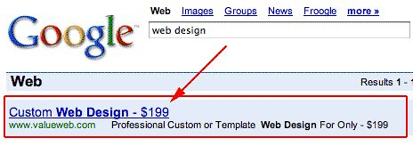 AdWords Display URL