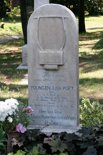 Headstone of John Keats