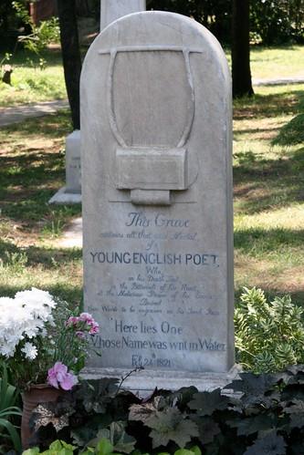 Headstone of John Keats