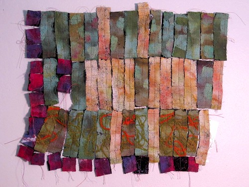 Felted stitched strips