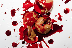 The life and his bloody track (vol.3) (Martin.Matyas) Tags: canon canonef50mmf18 eggs bloody tod eier thedarkside eos400d thelifeandhisbloodytrack