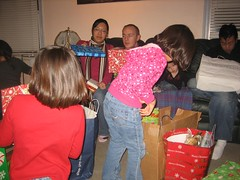 Christmas present Opening Chaos