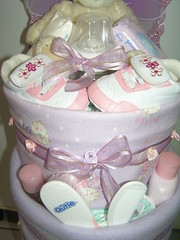 Lilac 2-tier nappy cake (russell.davina) Tags: baby diapers nappies babyshower diapercake newarrival babyshowergift nappycake babyshowercenterpiece babyhamper wwwdesignernappycakescoza