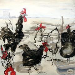 CHOOK LANDSCAPE (Janine Coddington) Tags: art janine coddington janinecoddington