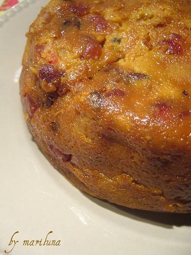 Pudding alla zucca e cranberries