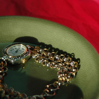 Silver and Gold Chainmaille Watch