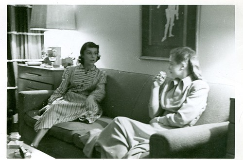 Florence Otway and her landlady at 16 Jane St. NYC about 1948