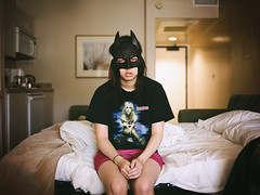 ( Sean Marc Lee ) Tags: 120 mamiya film analog mediumformat 645 fuji awesome palmsprings superhero batman 100 hotelroom reala britneyspears superawesome yumichan thedarkknight