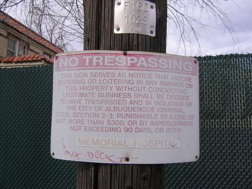 no trespassing (by silas216)