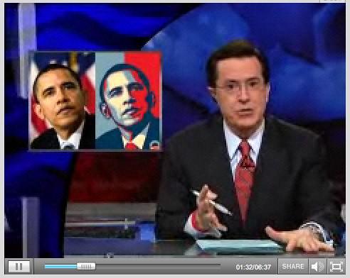 Obama Poster Debate - David Ross and Ed Colbert | February 12th | ColbertNation.com