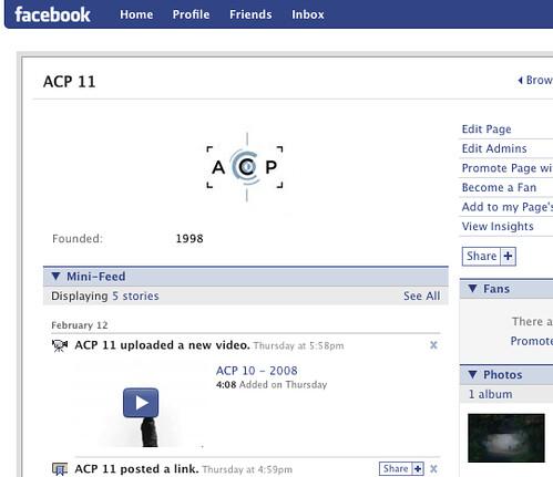 ACP 11 Facebook Page