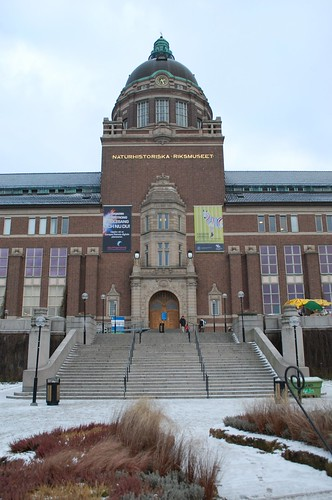 The entrance to the Swedish Natural History Museum, Naturhistoriska riksmuseet.