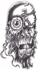Demon Freak Face (Wayne Tully) Tags: creatureart waynetullyfantasyart demondrawings demonicart