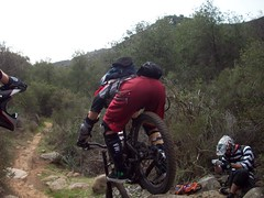Mike rolling over a Big Rock (no1cr500racer) Tags: mike jeremy anthony