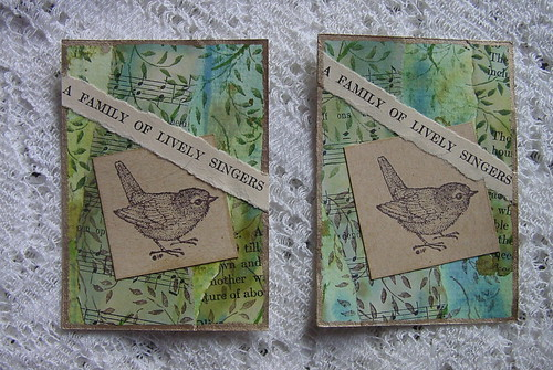 Stamped Birds ATCs 2