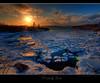 Fire & Ice (Dave the Haligonian) Tags: ocean sunset sea snow canada ice water night clouds evening frozen nikon novascotia dusk sigma atlantic maritime 1020mm hdr fireice d90 lowerprospect great123 dsc616456tif