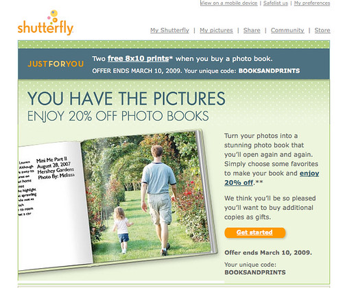 My photobook was featured in a Shutterfly ad - woo hoo!