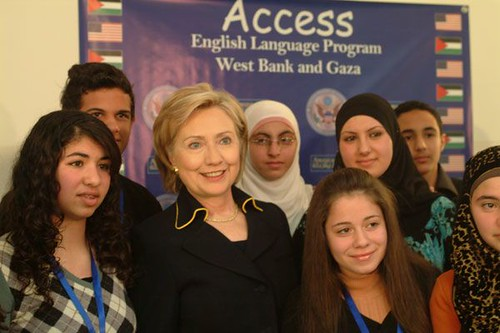 Hillary in Ramallah