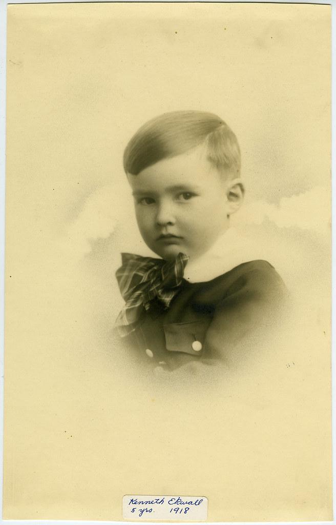 1918 Kenneth Lee Ekwall at Age 5