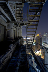 fire escape nights (gsgeorge) Tags: city urban skyline night view detroit citylights fireescape cityatnight density downtowndetroit tallestfireescape highestfireescape