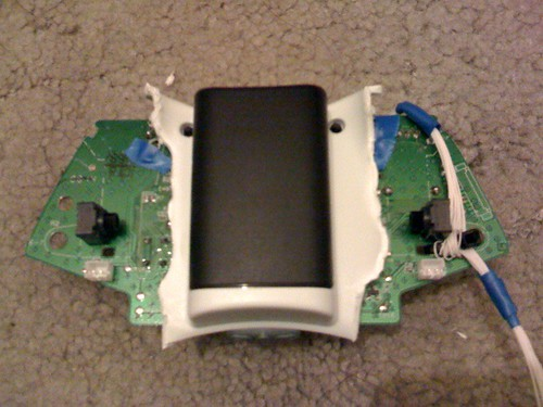 Xbox 360 wireless pcb battery fitted