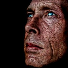 ~ My Flickr Face ~ (ViaMoi) Tags: blue light canada man reflection eye colors face lines photoshop self canon reflections eyes flickr artist colours photographer image newmedia canadian textures reflect saturation farbe depth imagery naturalist imagist digitalcameraclub 40d canon40d viamoi 100commentgroup absolutegoldenmasterpiece