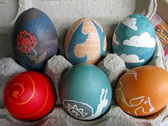 I made Easter eggs today. (Turtblu) Tags: easter crafts eggs eastereggs sortof pysanky 2009yip