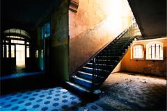Corridor 1 (96dpi) Tags: abandoned beelitz brandenburg broken corridor decay flur gelander heistatten hospital korridor krankenhaus lungenheilanstalt railing stairs stairwell steps stufen treppe treppenhaus verfall verlassen zerstort