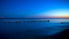 Cool Blue Sunset (Insight Imaging: John A Ryan Photography) Tags: longexposure sunset toronto ontario water night lakeerie aficionados pentaxk10d wwwinsightimagingca johnaryanphotography