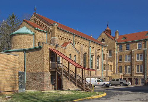 Former Incarnate Word Convent, at the University of Missouri - Saint Louis, in Normandy, Missouri, USA - exterior of chapel