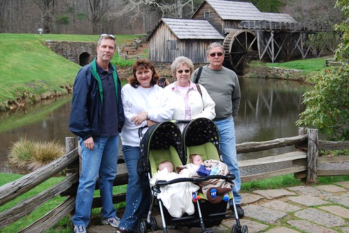 The family at Mabry Mill