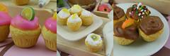 Handmade Miniature Cupcakes (Shay Aaron) Tags: food dessert miniature lemon handmade chocolate cream fake fimo cupcake clay minifood muffin polymer שוקולד אומנות יצירה פימו לימון עבודתיד מלאכתיד שיאהרון מאפין מאפינס קאפקייק