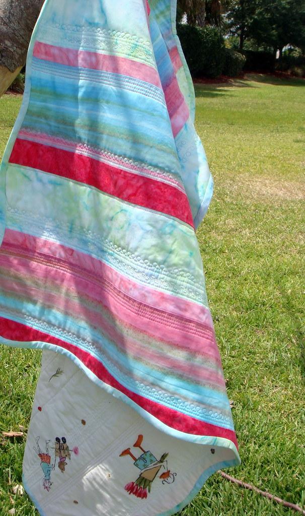 batik quilt, both sides