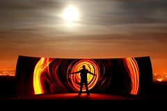123/365 (rob orchard) Tags: longexposure sculpture orange moon lightpainting art festival brighton torch reflective moonlight kapoor anishkapoor anish gel 365days canon247028l 365icon ccurve 365icon615