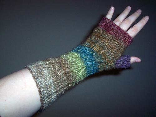 Paste-y Sarah shows off her gloves
