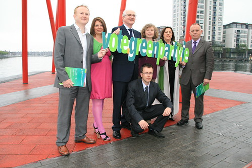 Minister John Gormley, and Green Party Local candidates launching the vote.green.ie website