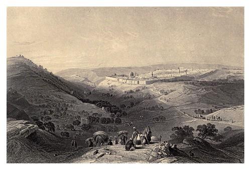 009- El monte de los olivos desde el Noreste-Bartlett, W. H. 1840-1850