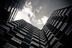 New Home (spiggycat) Tags: sky blackandwhite bw building geometric up architecture clouds se washingtondc dc model apartment balconies dcist canonef20mmf28 capitolriverfront onyxapts sintixerrdppwuv