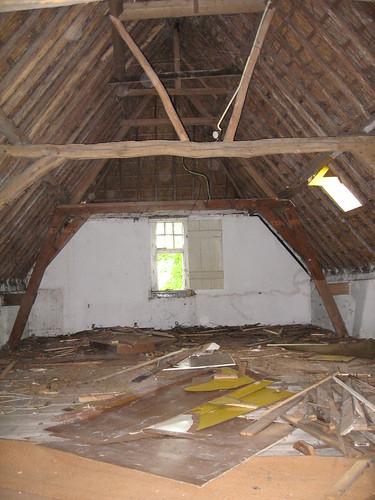 De zolder zonder wandjes
