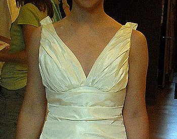 closeup of dress neckline