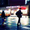 Fantasy World (antonkawasaki) Tags: nyc newyorkcity night streetphotography squareformat nightscene crosswalk taxicab iphone redumbrella whitelines crossingthestreet rainynight 500x500 fantasyworld artyshot ©antonkawasaki fuzzyatmosphere maninbusinesssuitcarryingabackpack womanwithawhitecapandabag craigishorny