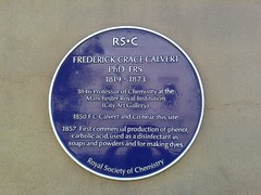 Photo of Frederick Crace Calvert blue plaque
